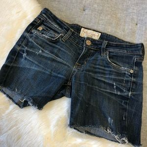 Big star liv bootcut cut- off distressed shorts 25